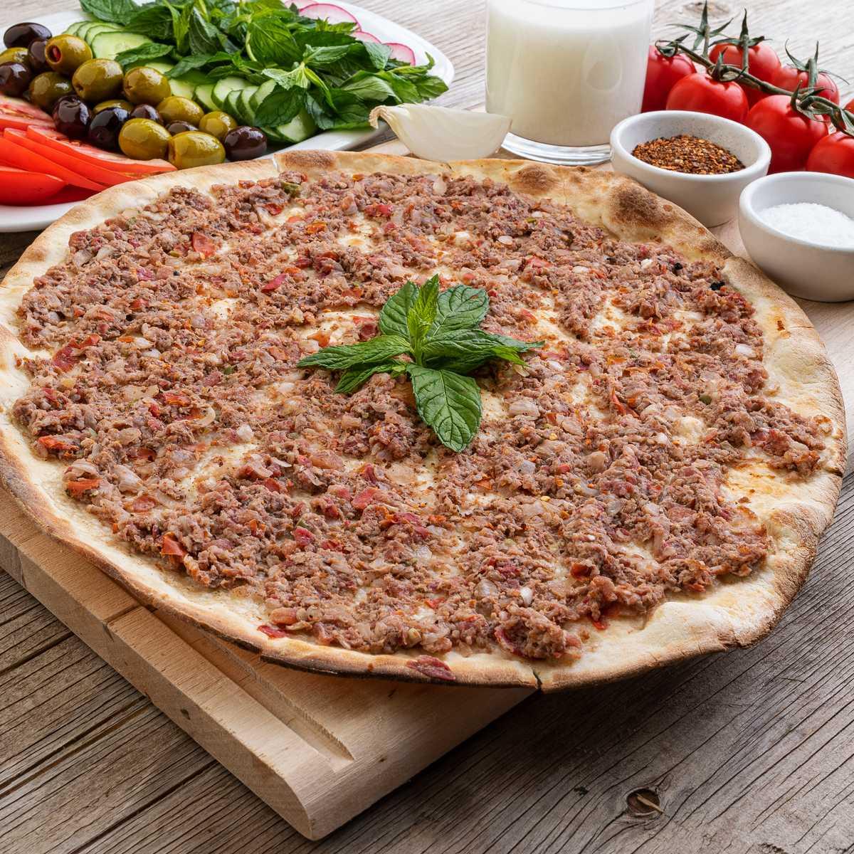 Lebanese Meat Pizza (Lahm Bel Ajine)