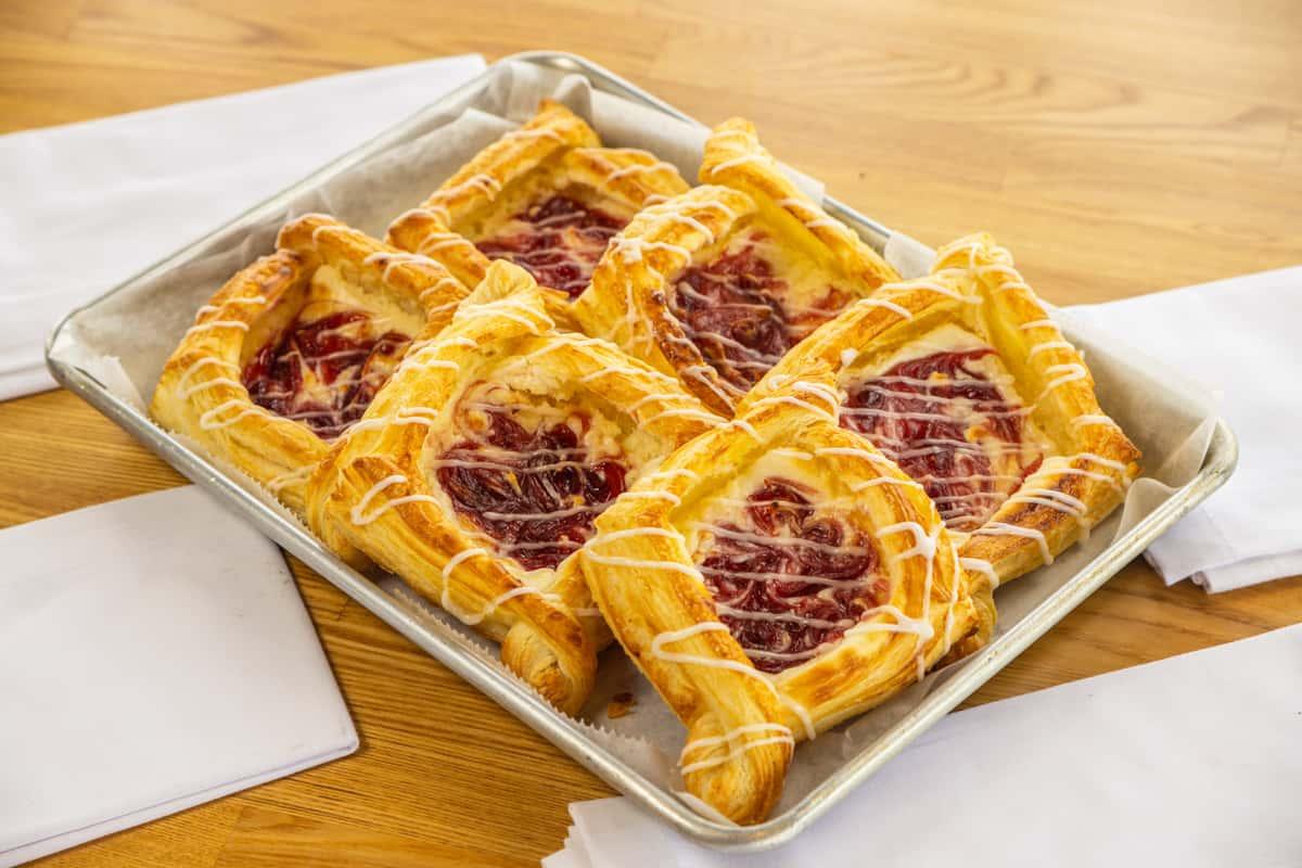 Raspberry & Cream Danish
