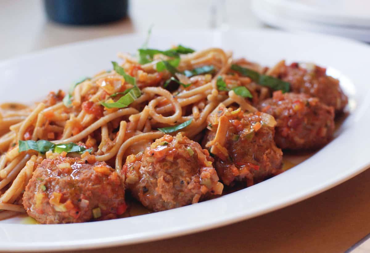Whole Wheat Spaghettini Primavera