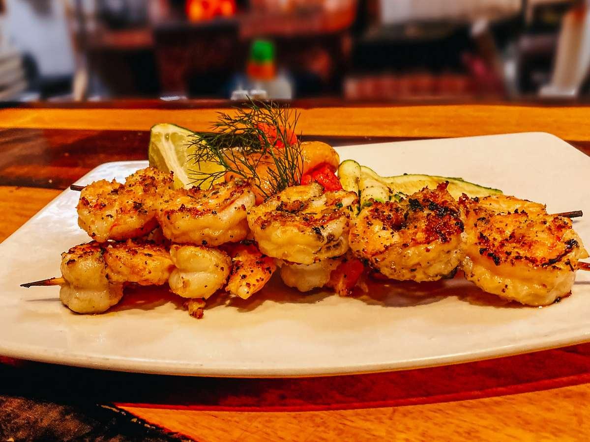 Grilled Shrimp Spiedini