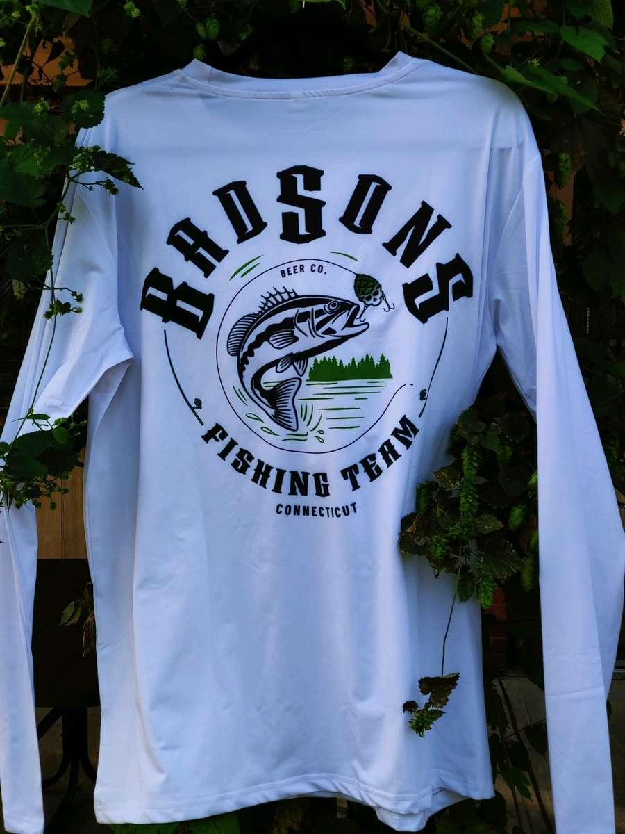 BADSONS L/S Performance Fishing T - White