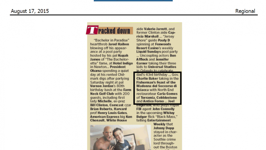 Tracked Down| Boston Herald