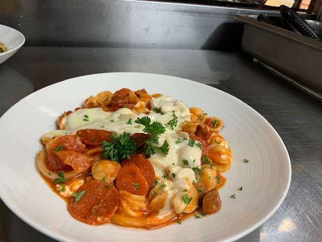Baked Orecchiette with Andouille Sausage