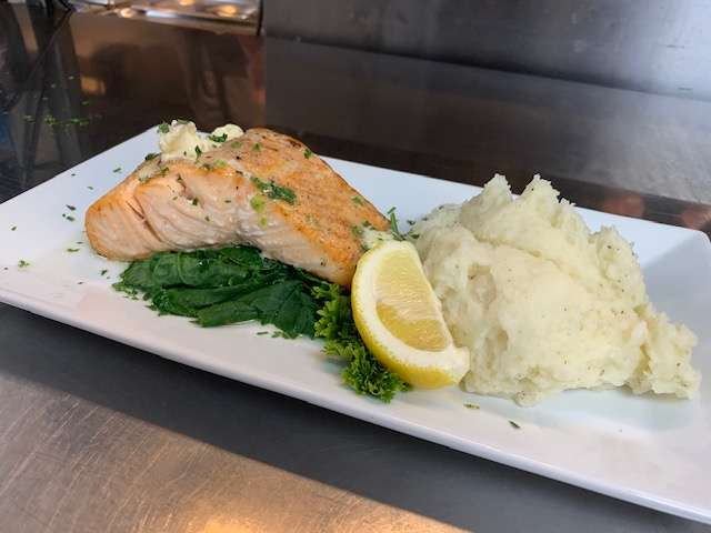 Salmon with Roasted Garlic Butter