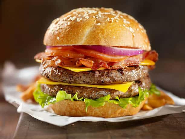 Farmyard Bacon Burger