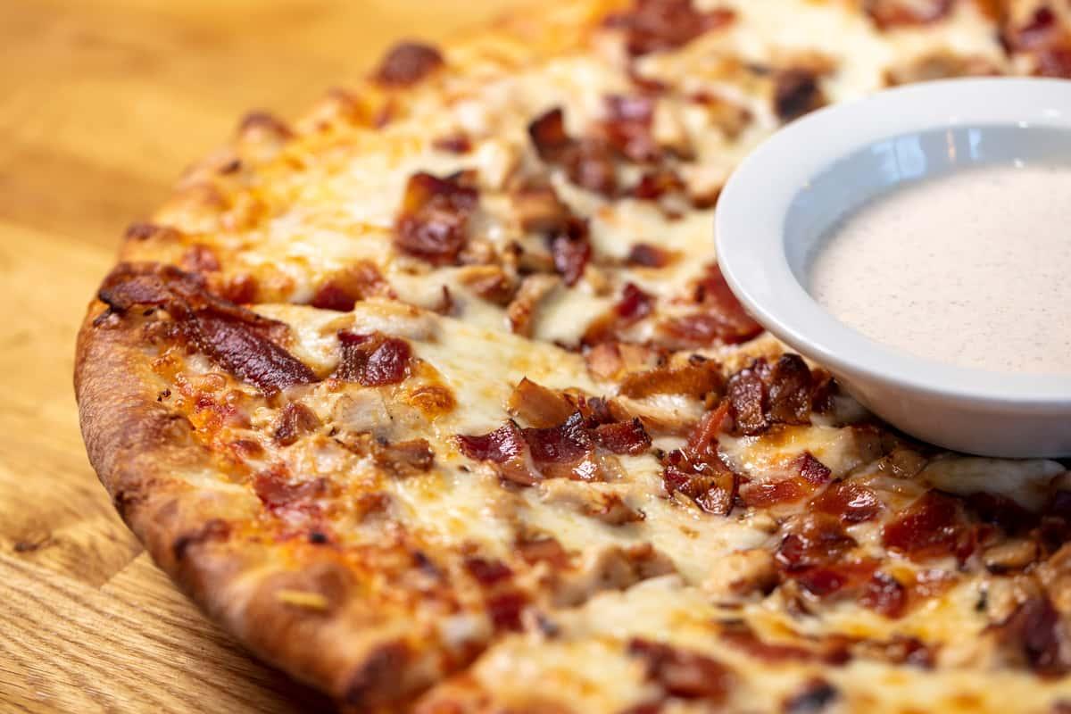 Chicken Bacon Ranch Pizza