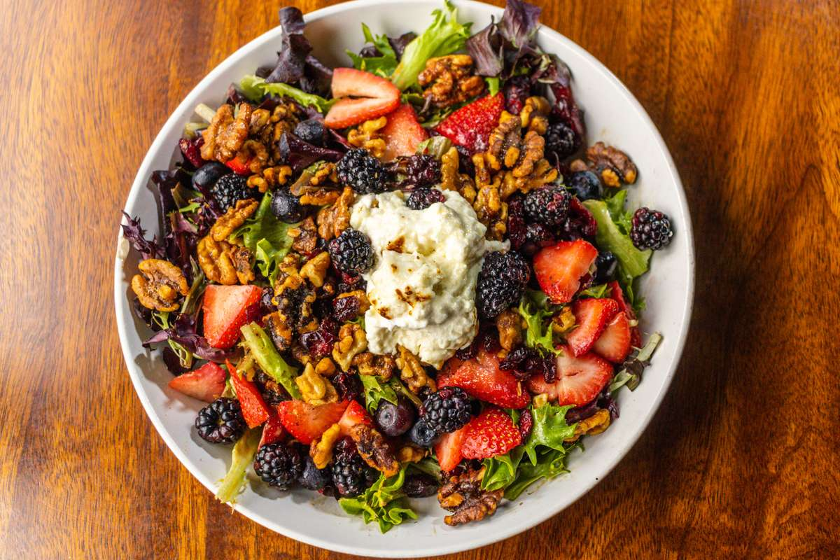 Warm Goat Cheese & Berry Salad