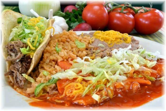 taco enchilada plate