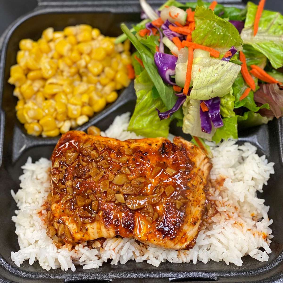Salmon Fire Grilled Plate