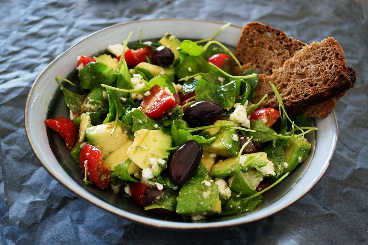 salad with bread