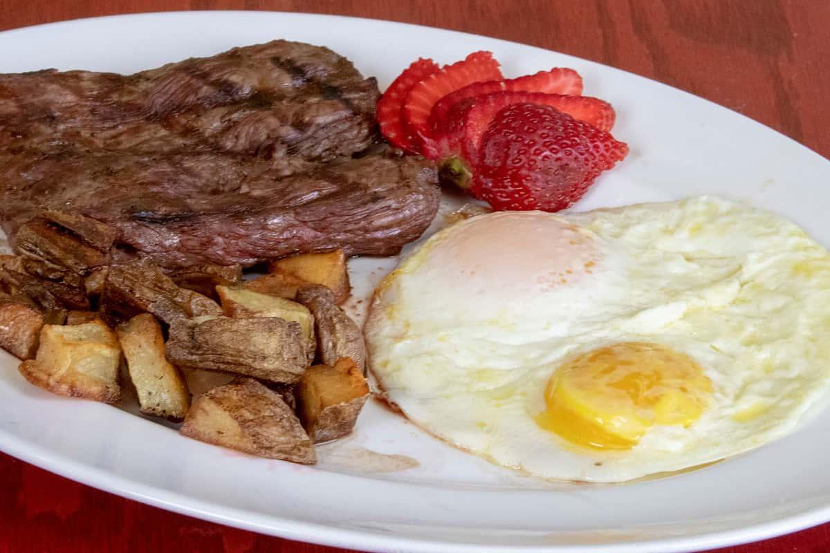 Skirt Steak and Eggs