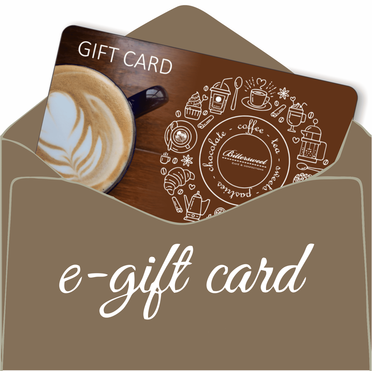 gift card in envelope
