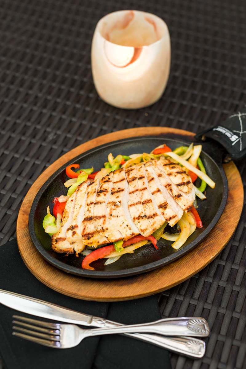 Grilled Chicken Breast Fajitas