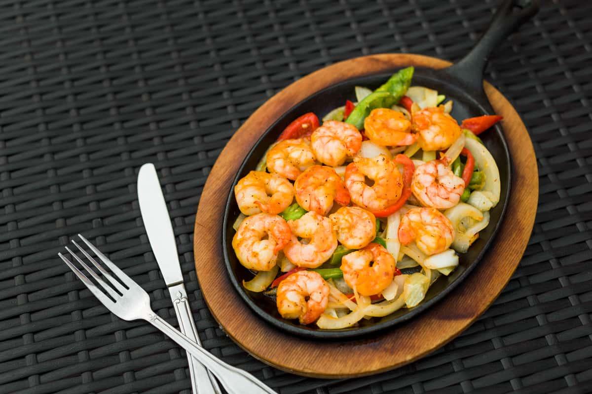 Sautéed Shrimp Fajitas