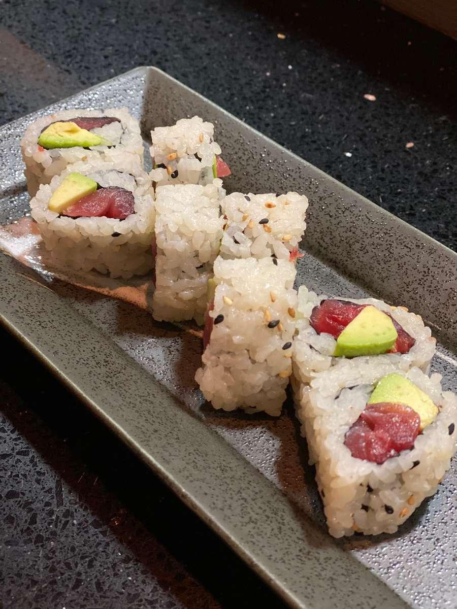 Tuna with Avocado Roll*