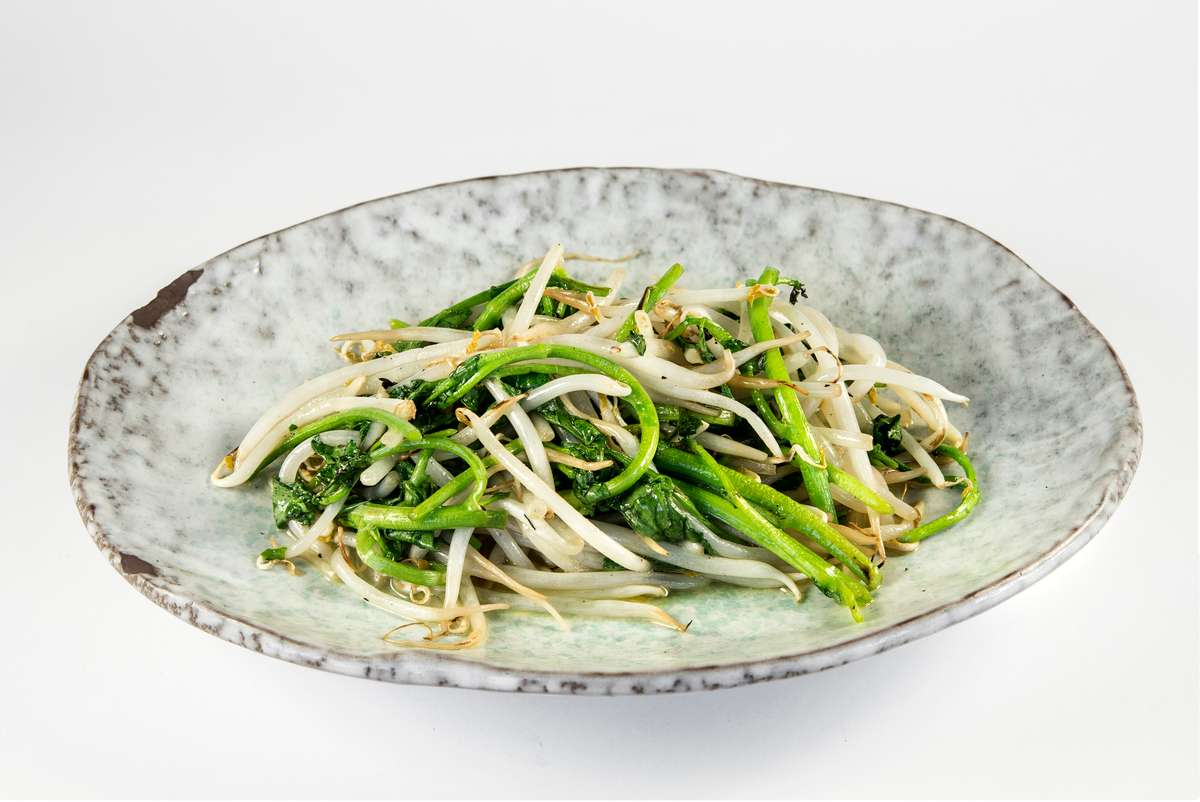 Sauteed Bean Sprouts & Watercress