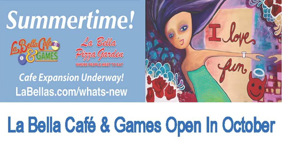 Café Expansion Underway Open October 2021