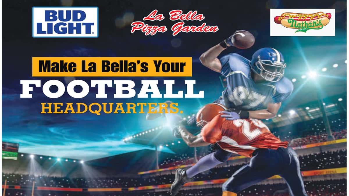 Make La Bella Pizza Your Football Headquarters
