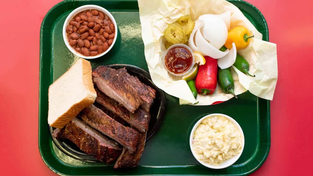 BBQ Plate W/ 3 Meats