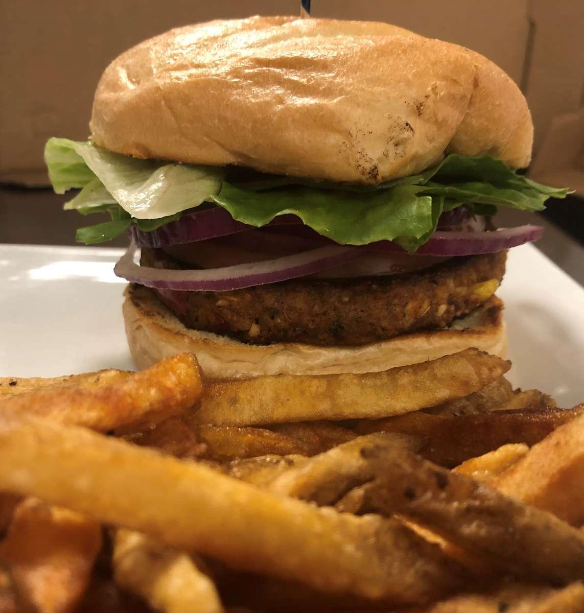 Sweet Potato & Black Bean Veggie Burger