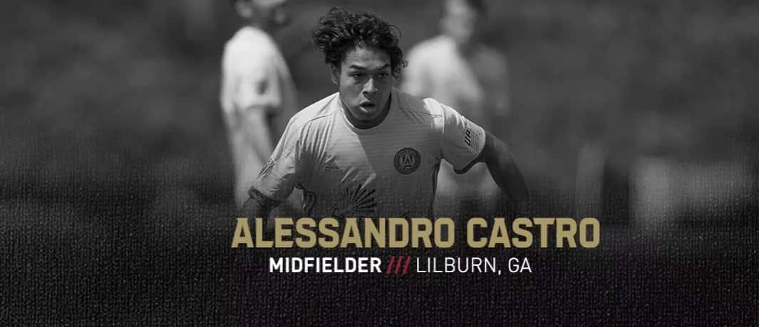 Atlanta United 2 signs Alessandro Castro from Academy