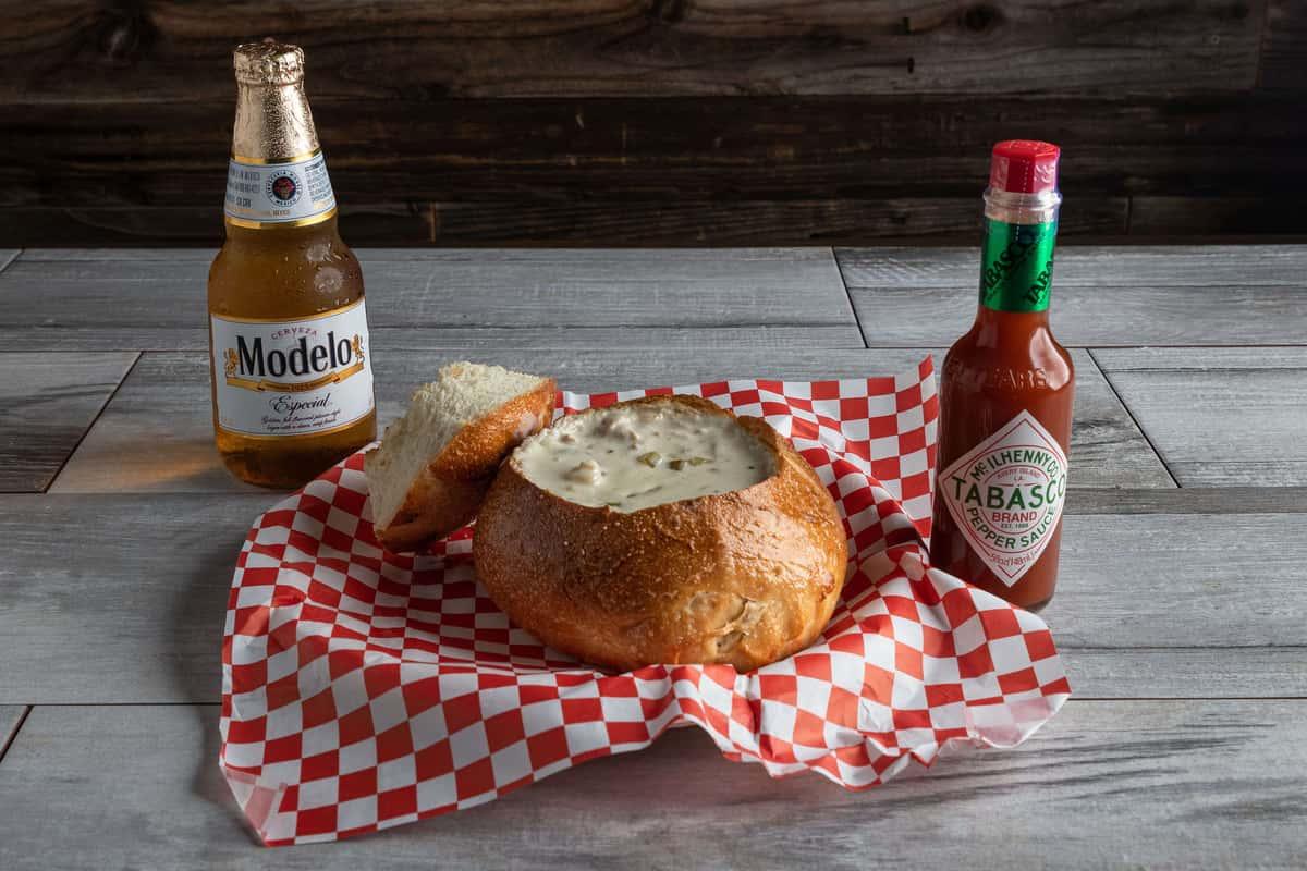 Clam Chowder Bread Bowls