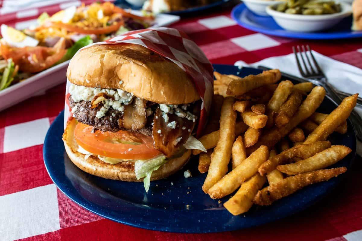 Bleu Cheese and Bacon Burger
