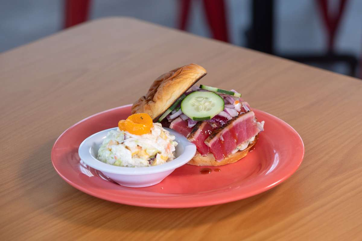 Jarrod's Island Calypso Ahi Tuna Sandwich