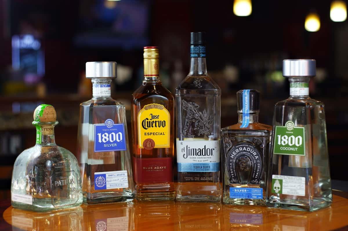 tequila bottles