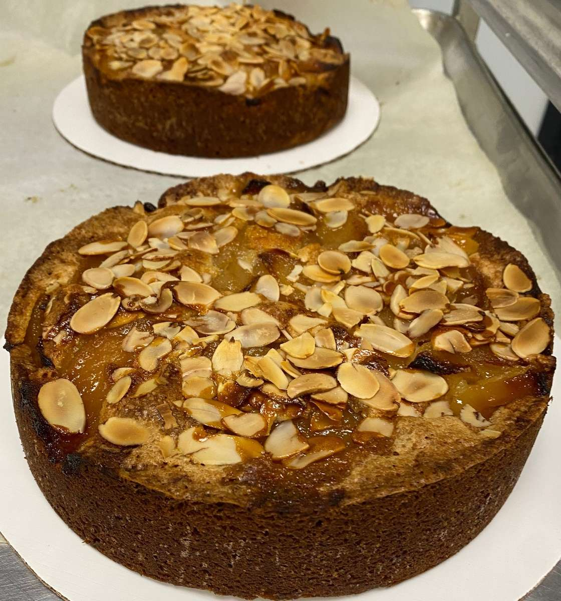 Pear Brown Butter Almond Cake