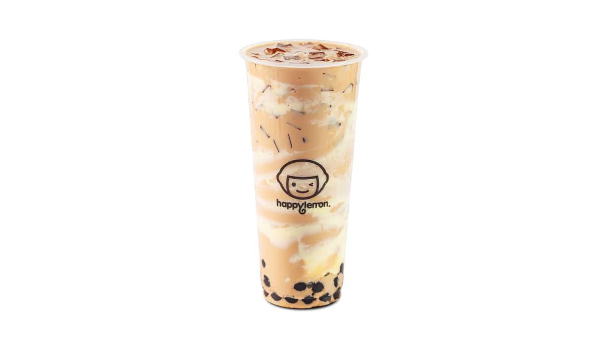 A4 Milk Tea with Boba & Puff Cream
