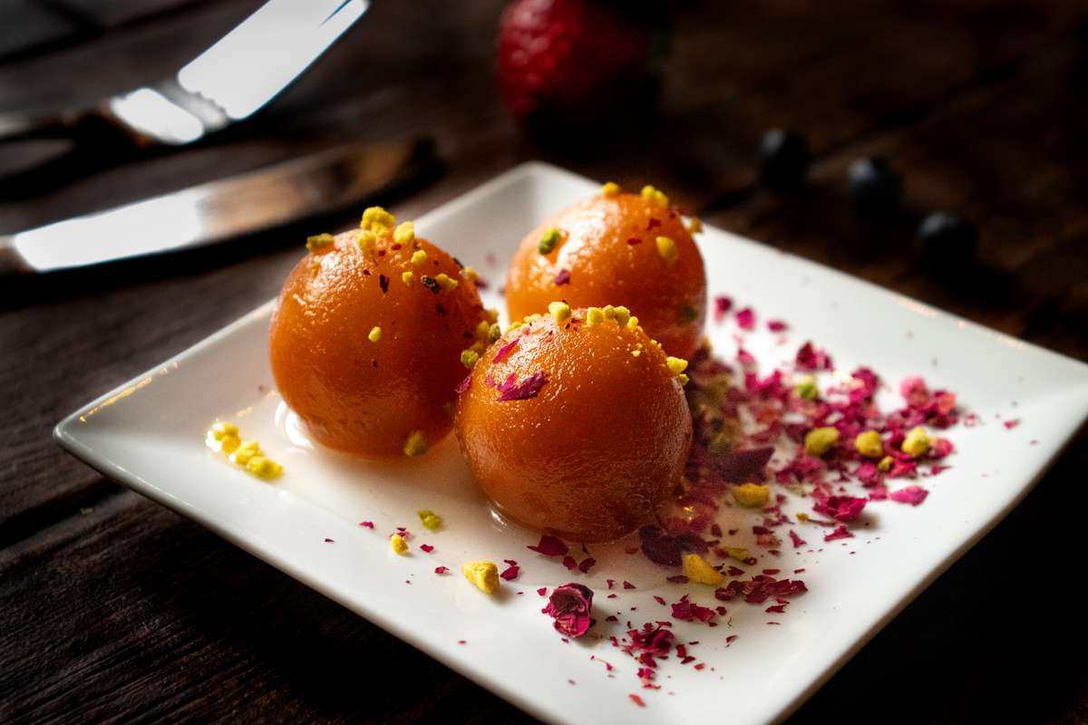 Gulab Jamun with Roasted Nuts