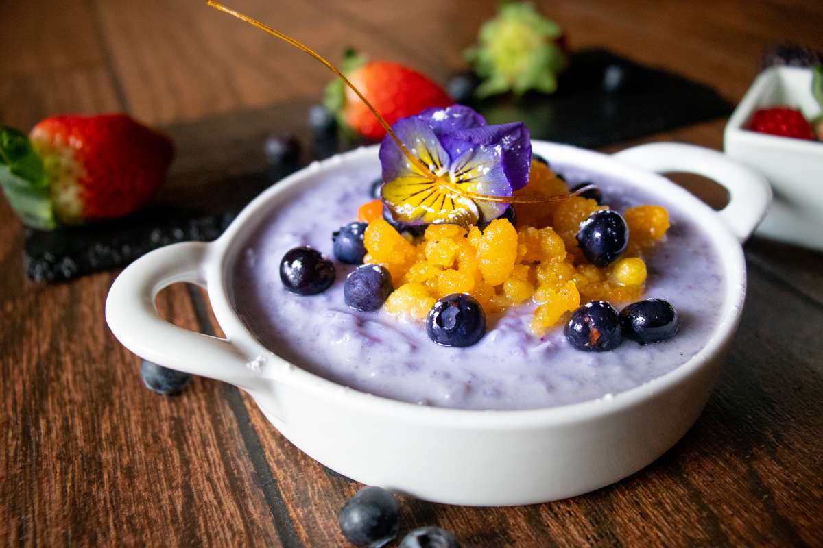 Vegan Blueberry Rice Kheer