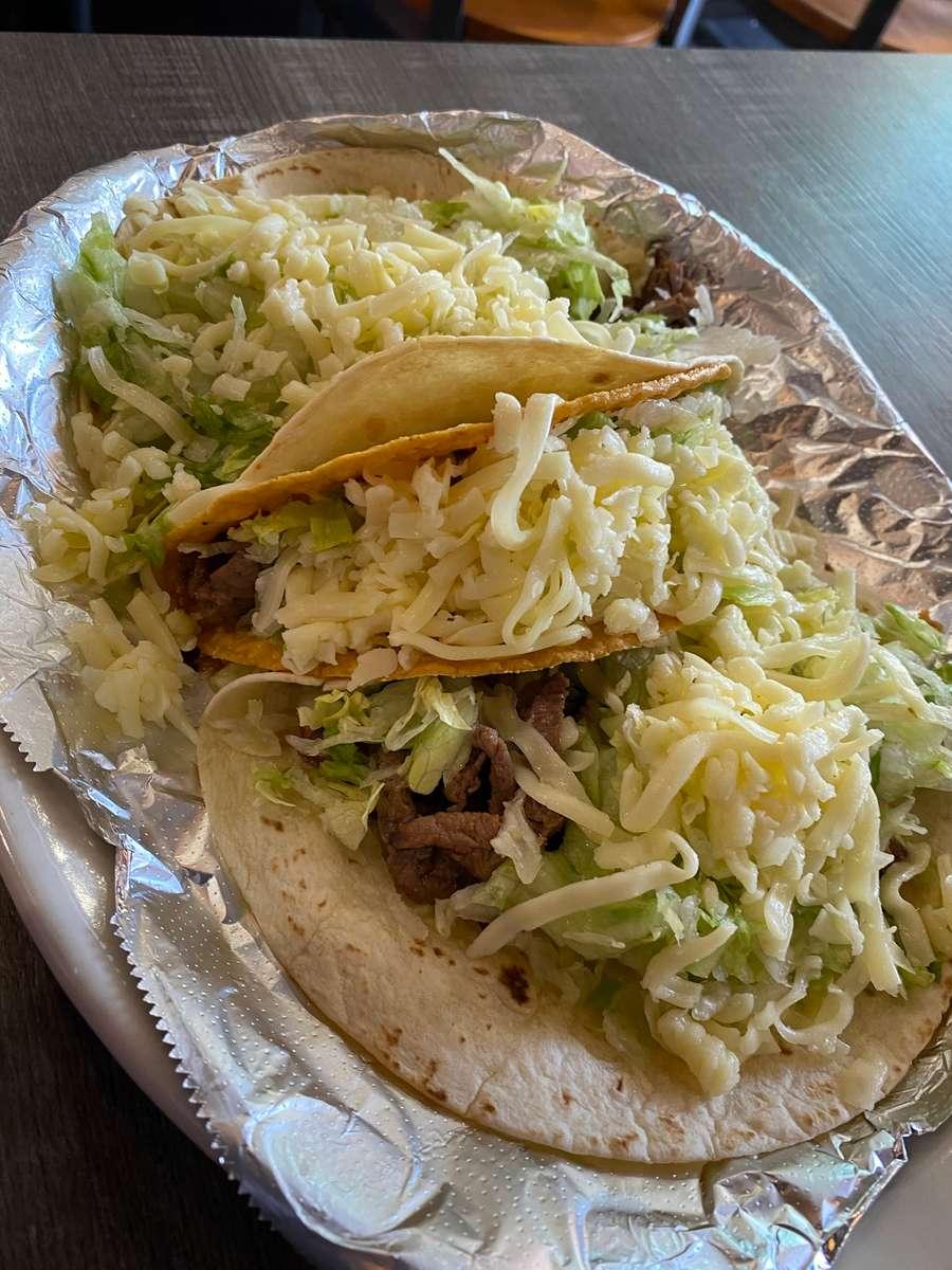 Grilled Steak Soft/Hard Tacos (3)