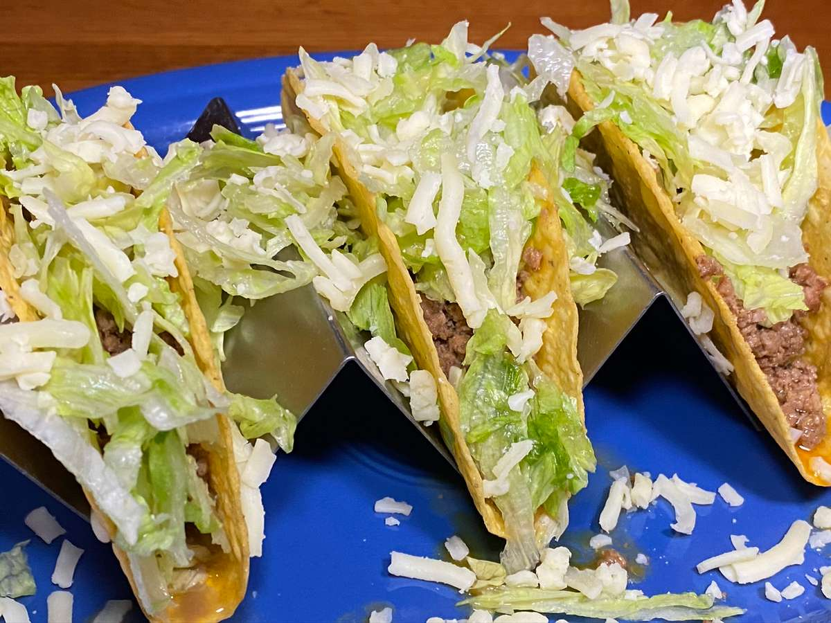 Ground Beef Soft/hard Tacos (3)
