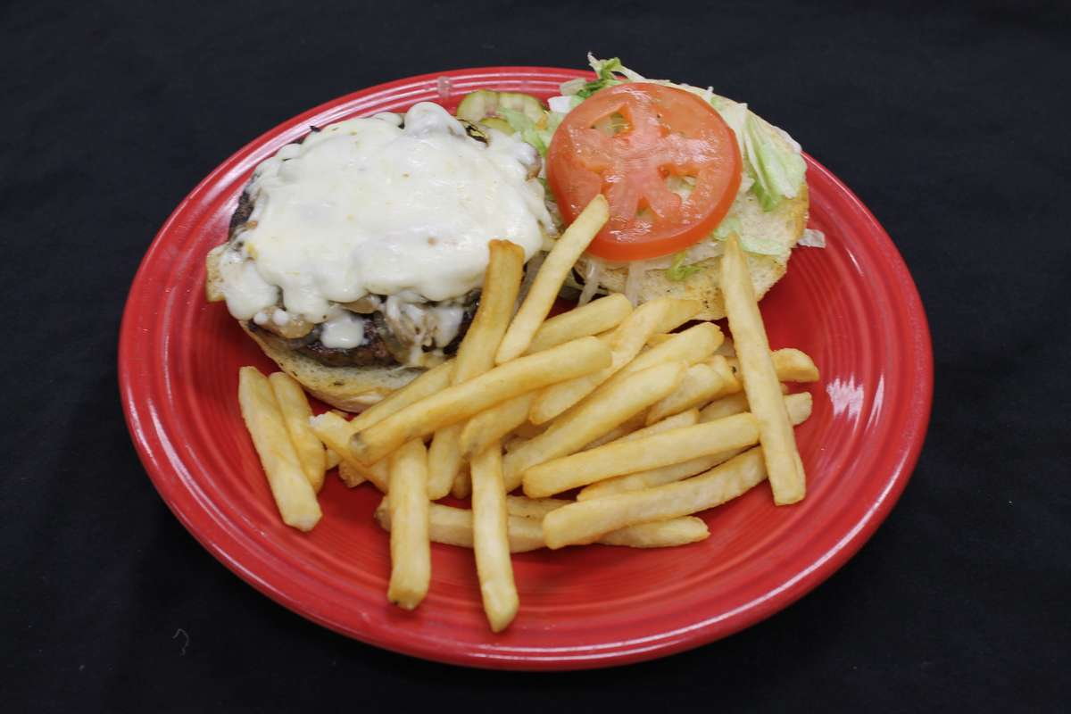 *Mushroom & Mozzarella Burger
