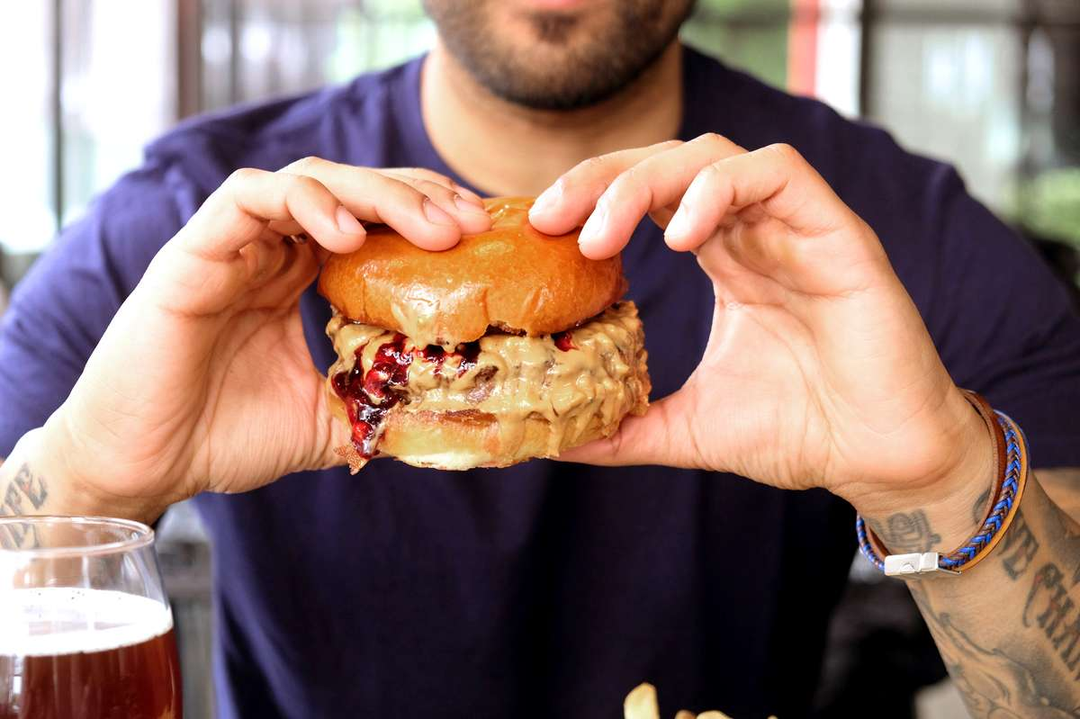 Our Famous PB&J Burger*