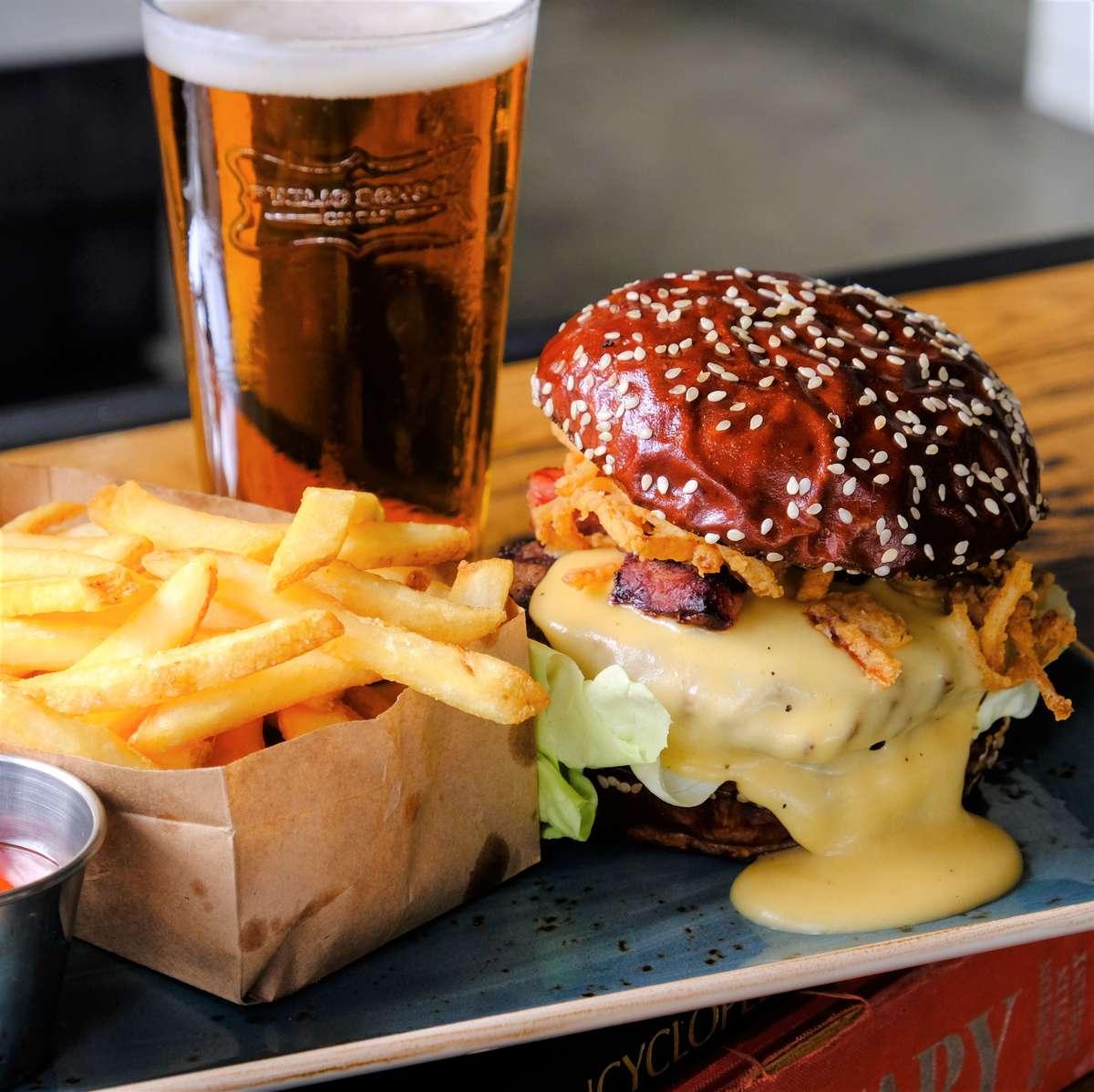 Beer Cheese Me Burger*