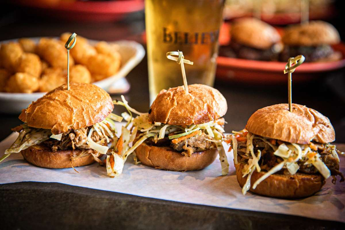 Charlies Bar and Grill Pork Sliders
