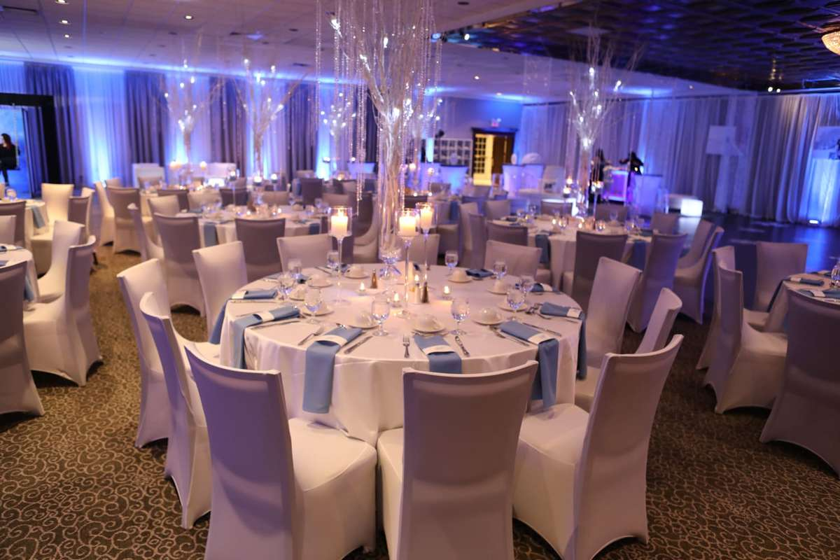 table in the ballroom