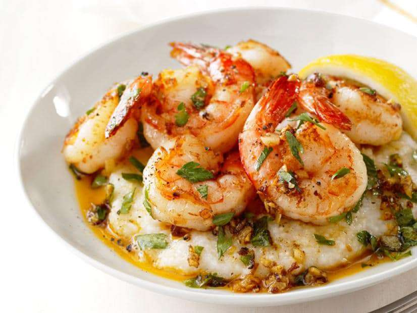 Shrimp with grits