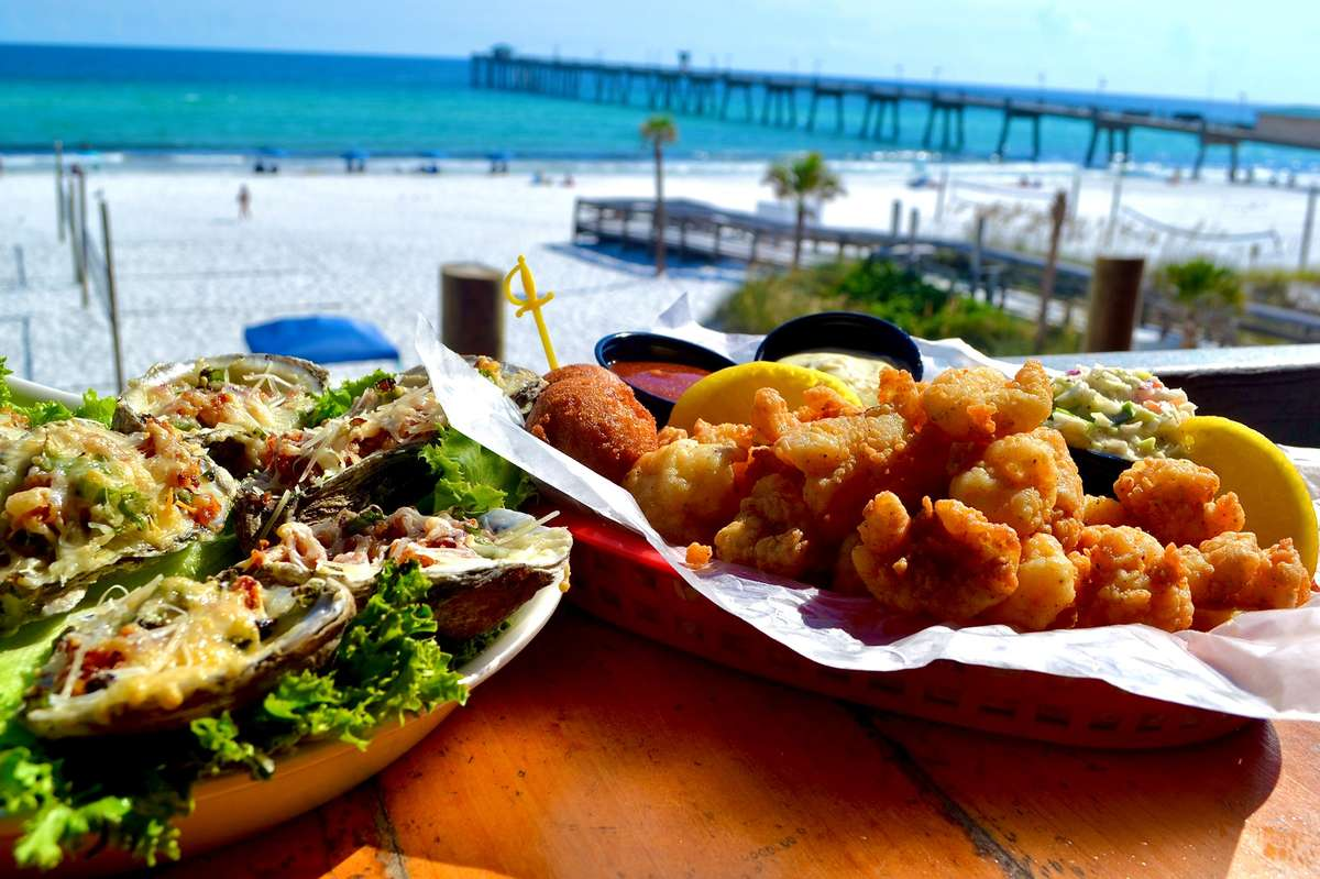 oysters and shrimp