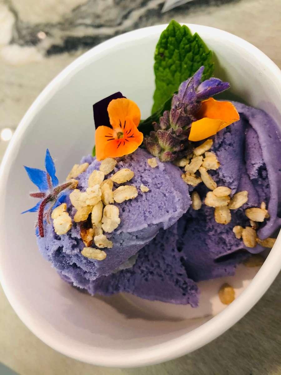Ube Macapuno Ice Cream