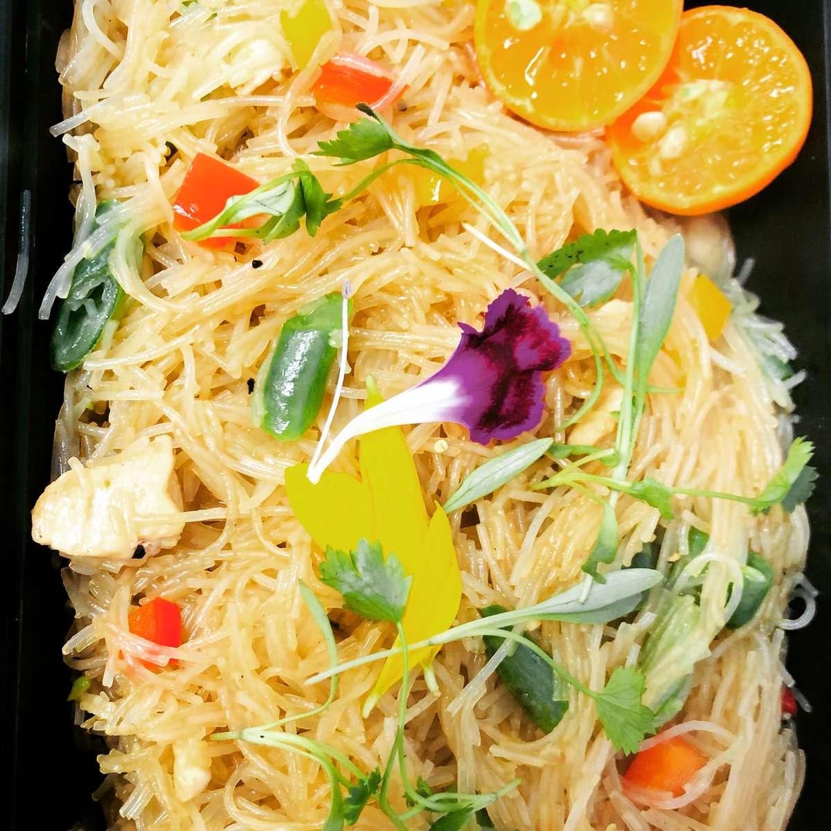 Mama's Pancit Bihon (Stir Fried Rice Stick Noodles)