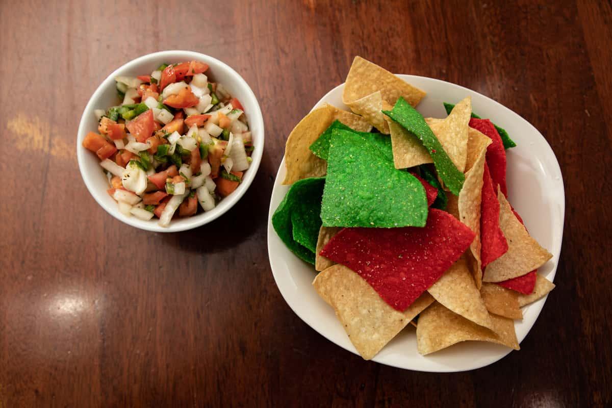 Homemade Tortilla Chips and Fresh Salsa