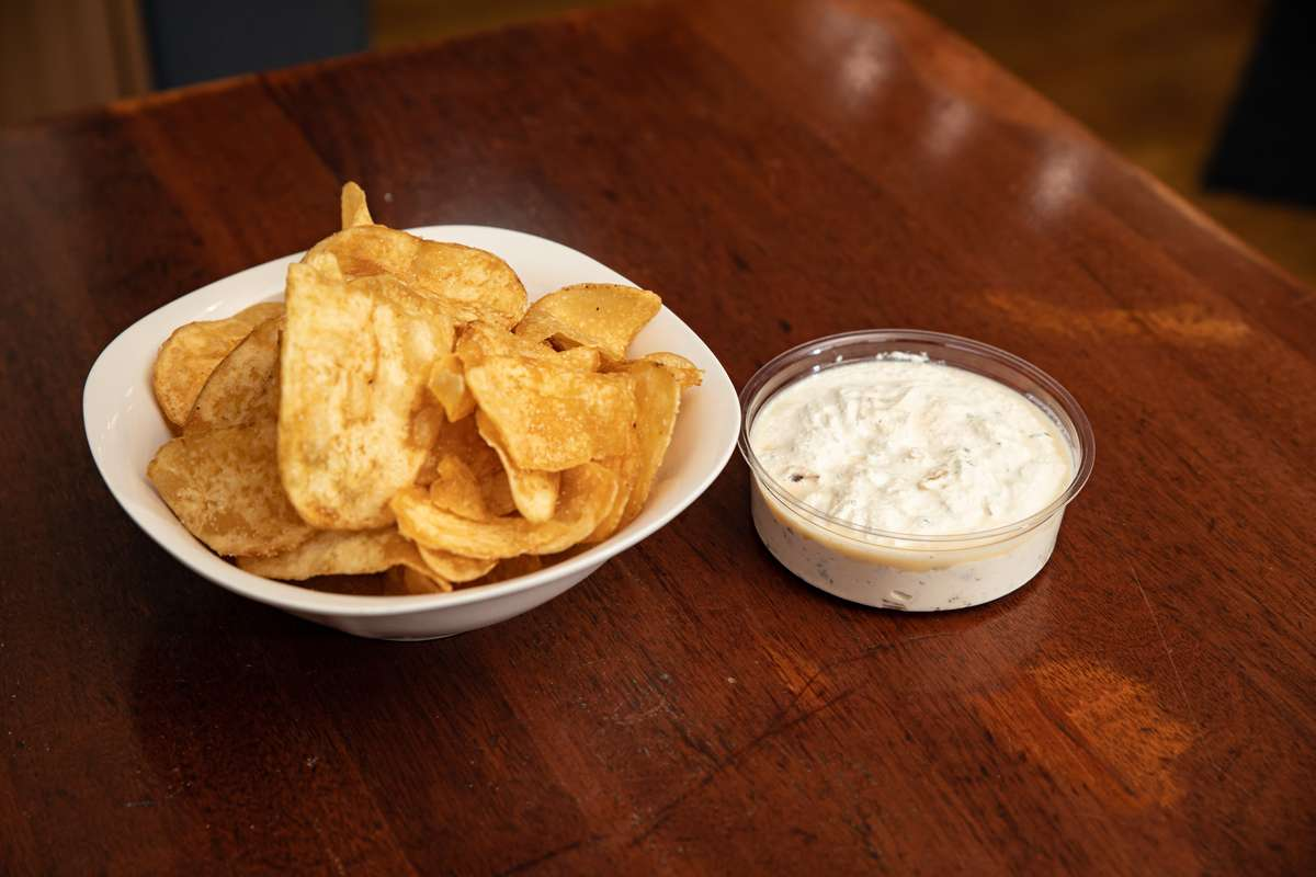 Homemade Chips and Onion Dip