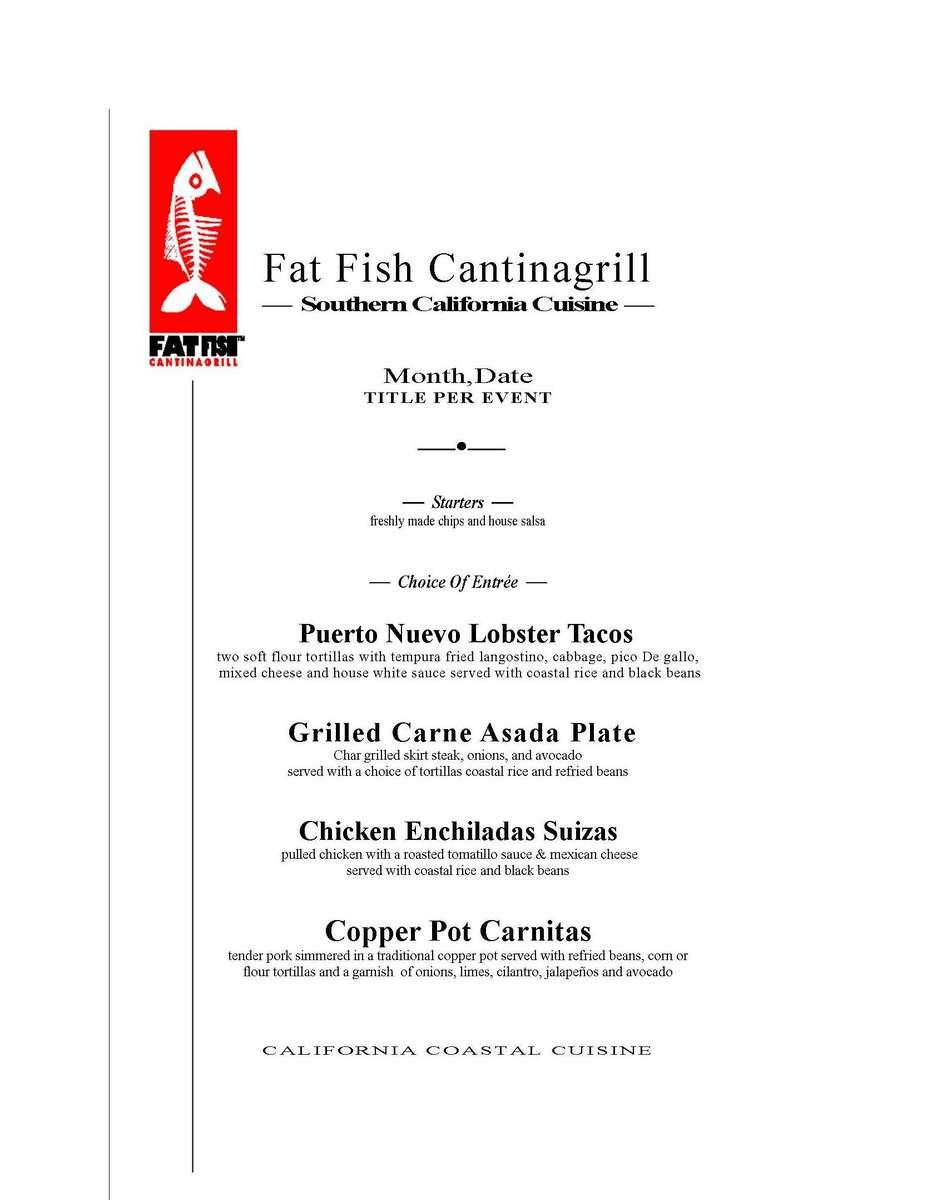 Informal menu
