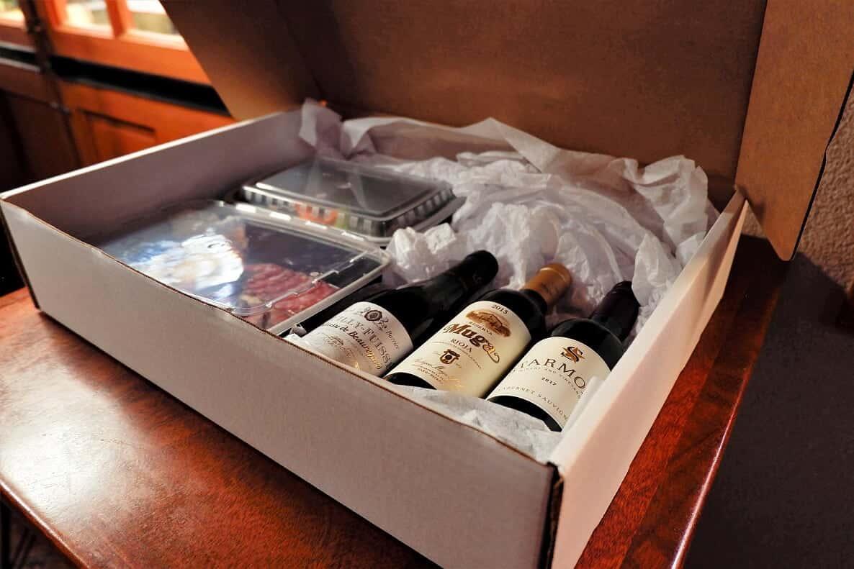 box of wines
