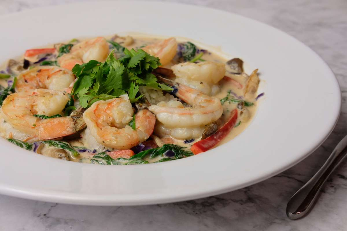 Thai Shrimp over Ginger Rice