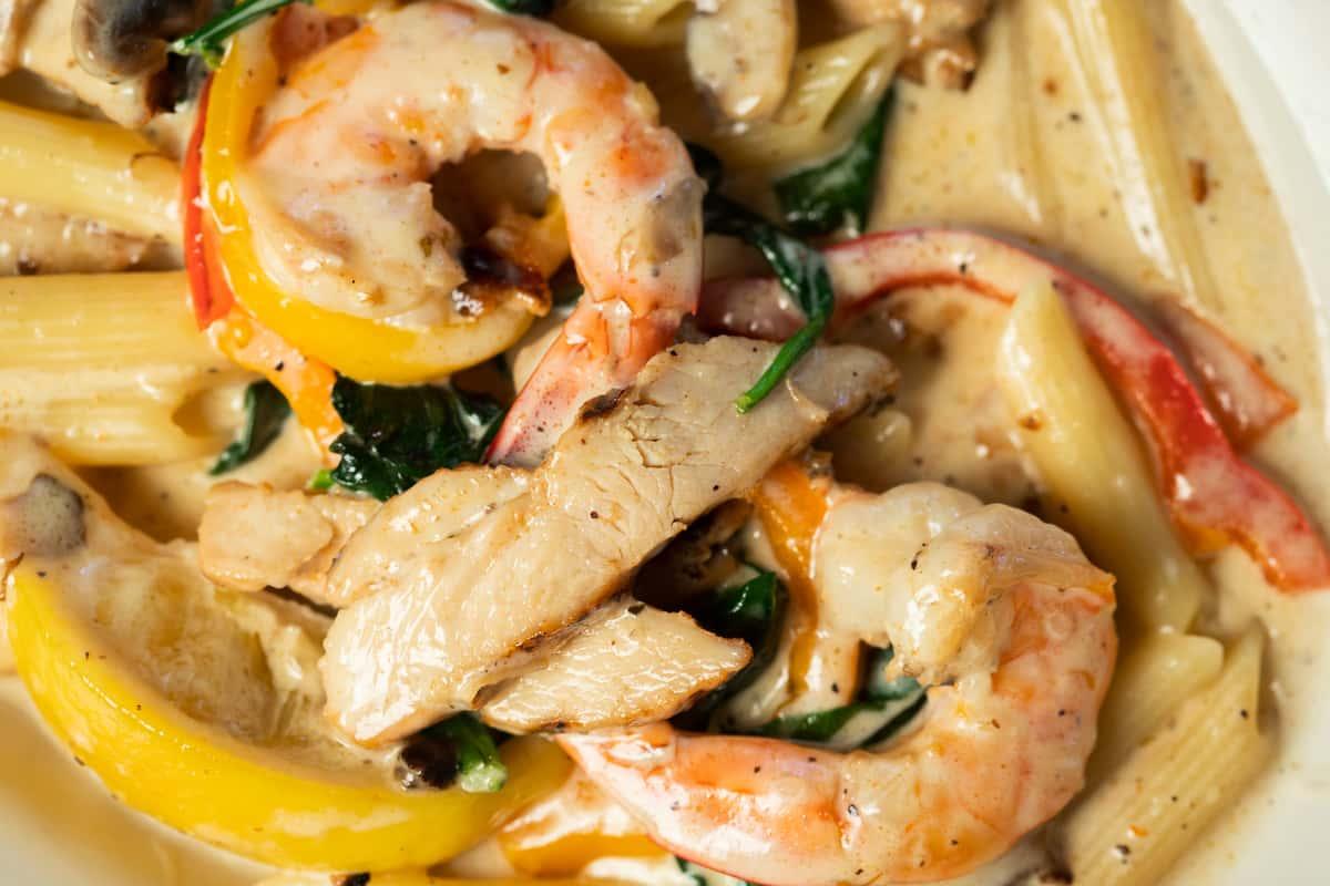Family Chicken & Shrimp Fiorentina